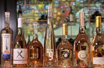The seven celebrity rosés under scrutiny tomorrow in the Celebrity Rosé Deathmatch virtual wine tasting.