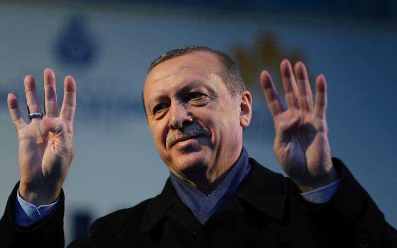 "Turkey's President Recep Tayyip Erdogan called Dutch ""Nazi remnants"" and ""fascists""  - Credit: AP"