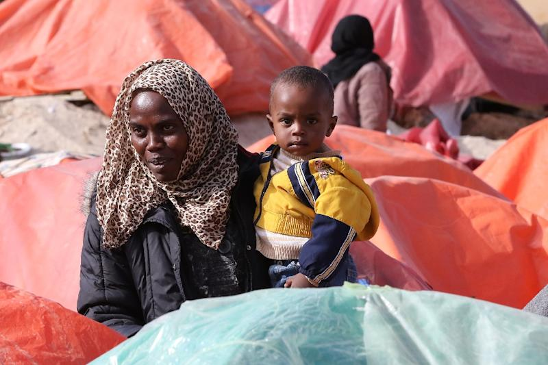 Sudanese refugees from Darfur in Amman last year (AFP Photo/Khalil Mazraawi)
