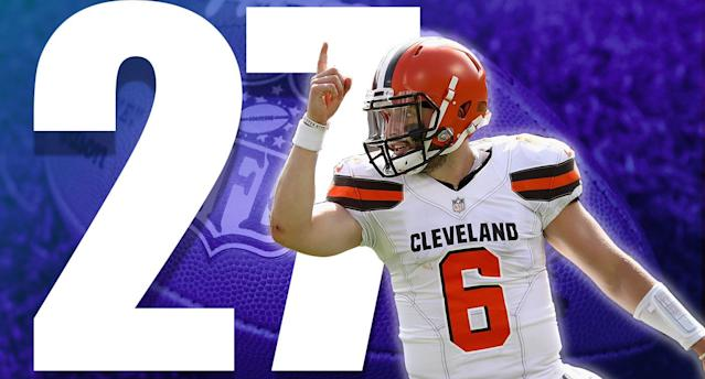 <p>Did the Browns get cheated on the reversal of what would have been a game-clinching first down? Maybe. But when you're punting to a team with no timeouts, leading by eight points, with 1:38 to go, you still should win. (Baker Mayfield) </p>