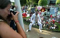 "<p>Elvis's legacy has continued long after his death and Graceland continues to be a symbol of that. Since opening as a memorial museum in 1982, the estate has seen <a href=""https://www.graceland.com/about-graceland"" rel=""nofollow noopener"" target=""_blank"" data-ylk=""slk:more than 20 million visitors"" class=""link rapid-noclick-resp"">more than 20 million visitors</a> and, after the White House, is the <a href=""https://www.graceland.com/about-graceland"" rel=""nofollow noopener"" target=""_blank"" data-ylk=""slk:most visited home in America"" class=""link rapid-noclick-resp"">most visited home in America</a>.</p>"