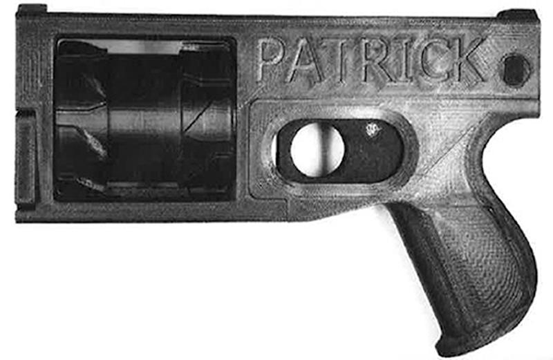 Undated handout photo issued by the Metropolitan Police of a 3D printed gun made by Tendai Muswere, 26, of Pimlico, central London. Muswere was convicted of one count of manufacturing a firearm at Southwark Crown Court on Wednesday. (PA)