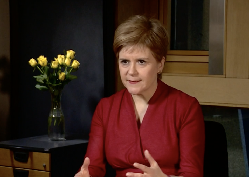 <p>Nicola Sturgeon insists Scots have a 'right' to another independence vote</p> (BBC News)