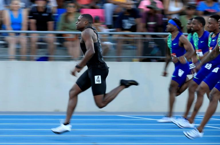 Christian Coleman powers to victory at the US Track and Field Championships last month