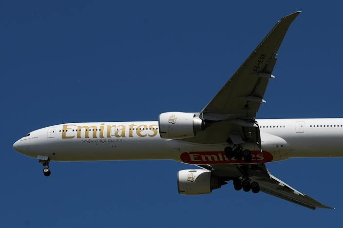 "FILE PHOTO: An Emirates passenger plane comes in to land at London's Heathrow airport <p class=""copyright"">Reuters</p>"