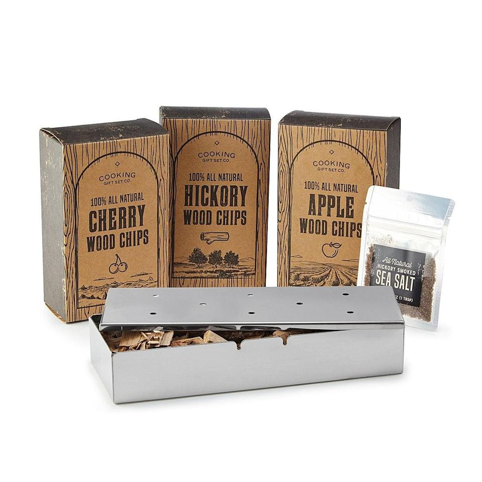 <p>The <span>Grill Smoker Gift Set</span> ($50) is for the barbeque aficionado.</p>