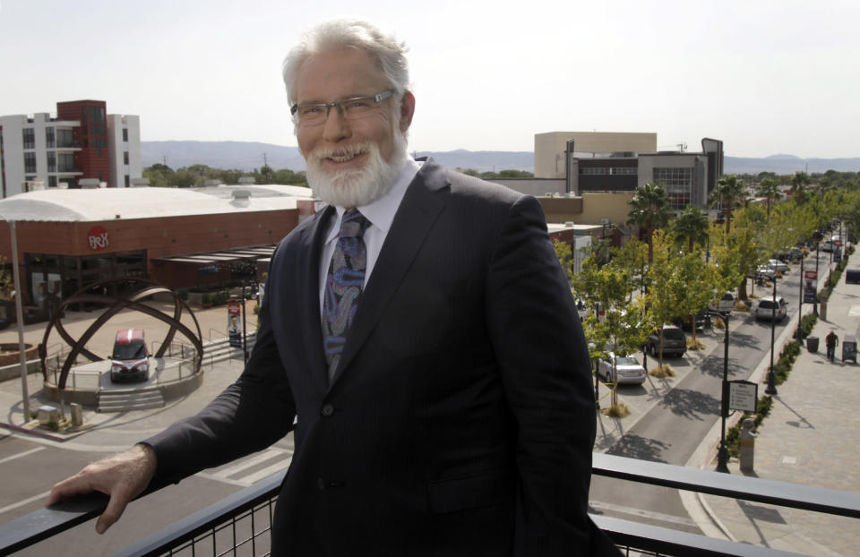 Lancaster Mayor R. Rex Parris has a new perspective on neckties. (Photo: Lawrence K. Ho/Los Angeles Times)