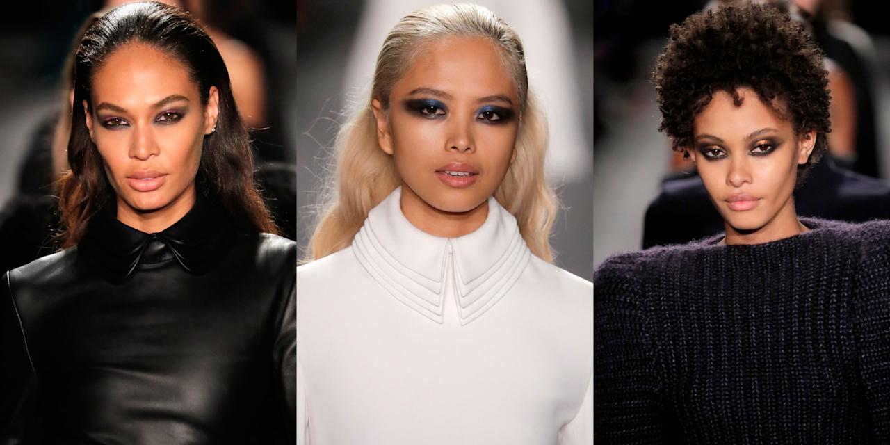 <p>An eye look as strong as the women who wore it on the runway at Brandon Maxwell.</p>