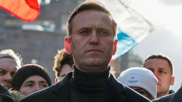 PHOTO: Russian opposition leader Alexei Navalny takes part in a rally in Moscow on Feb. 29, 2020. (Shamil Zhumatov/Reuters, FILE)