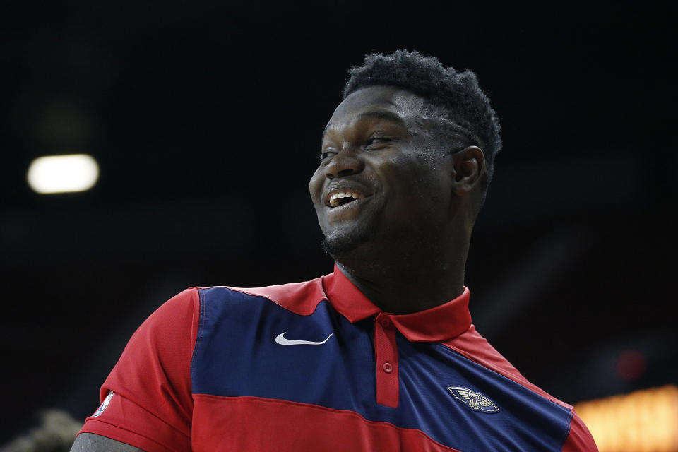 LAS VEGAS, NEVADA - JULY 08: Zion Williamson #1 of the New Orleans Pelicans looks on from the bench against the Chicago Bulls during Day 4 of the 2019 Las Vegas Summer League at the Thomas & Mack Center on July 08, 2019 in Las Vegas, Nevada. (Photo by Michael Reaves/Getty Images)