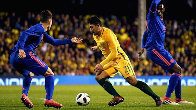 Massimo Luongo was arguably Australia's most impressive player in the draw with Colombia, and coach Bert van Marwijk took note.