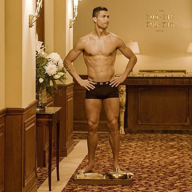 """<p>Ever get locked out of a hotel room in just your underwear and perfectly defined abs? Well, Ronaldo can relate, according to this July 2017 photo.</p><p><a href=""""https://www.instagram.com/p/BWIk_5BFlaJ/"""" rel=""""nofollow noopener"""" target=""""_blank"""" data-ylk=""""slk:See the original post on Instagram"""" class=""""link rapid-noclick-resp"""">See the original post on Instagram</a></p>"""