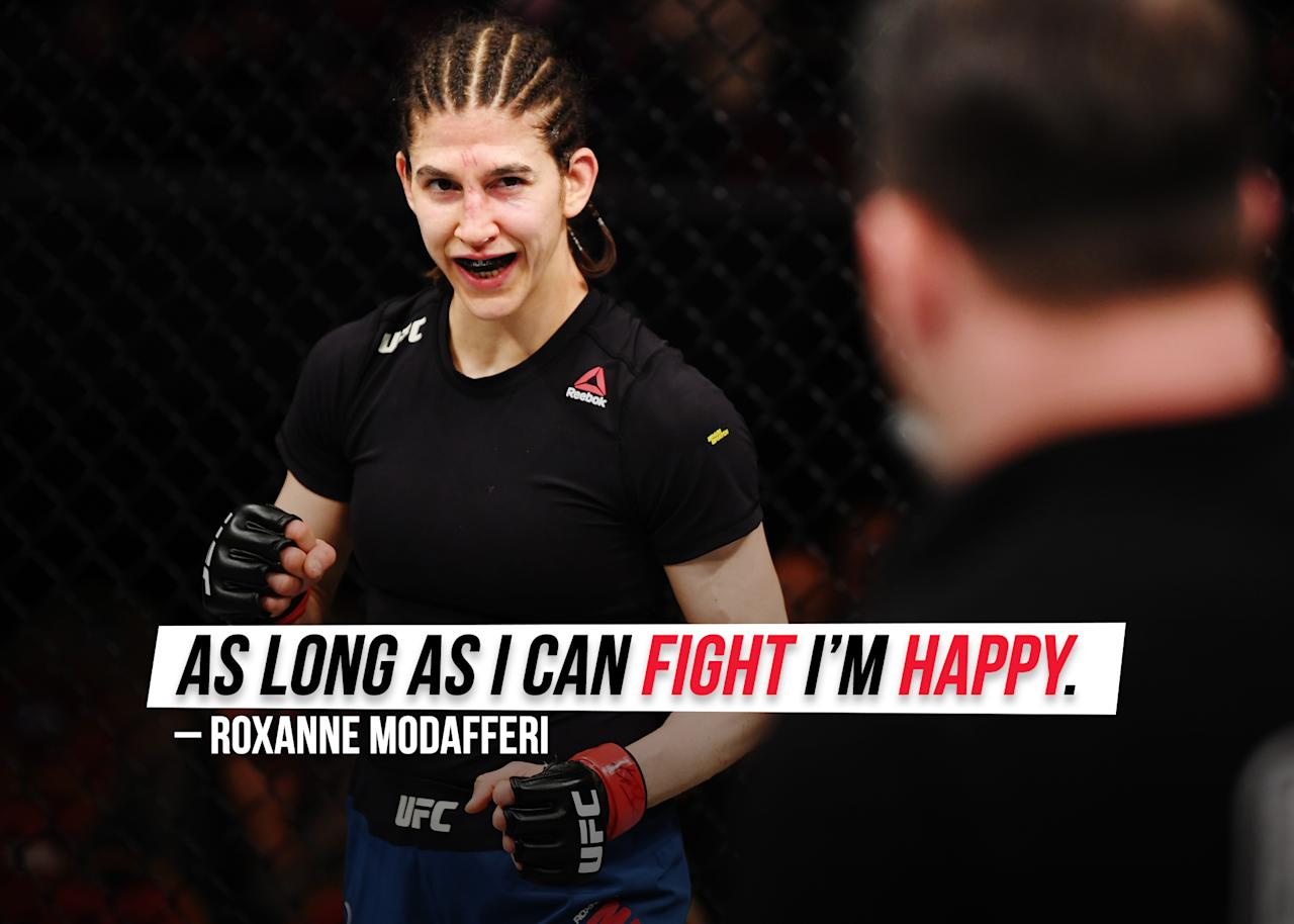 "Roxanne Modafferi is still <a href=""https://sports.yahoo.com/roxanne-modafferi-excited-for-jennifer-maia-rematch-july-20-233712133.html"">anticipating her rematch</a> against Jennifer Maia."