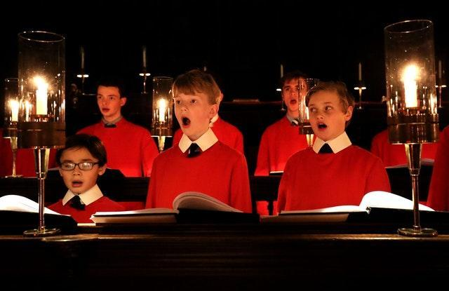 Choir of King's College rehearsals