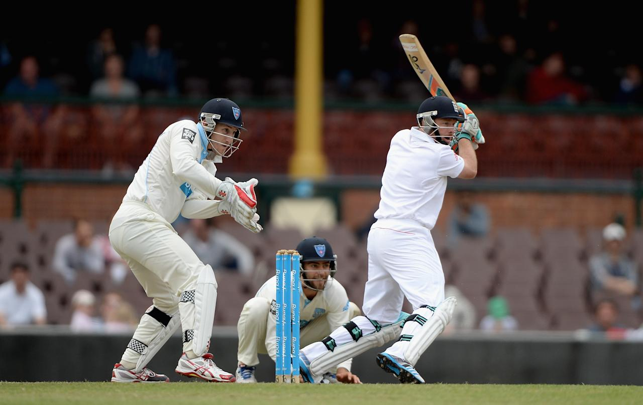 SYDNEY, AUSTRALIA - NOVEMBER 16:  Ian Bell of England bats during day four of the tour match between CA Invitational XI and England at the Sydney Cricket Ground on November 16, 2013 in Sydney, Australia.  (Photo by Gareth Copley/Getty Images)