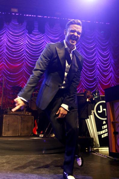 Justin Timberlake performs at The Forum on February 20, 2013 in London, England.