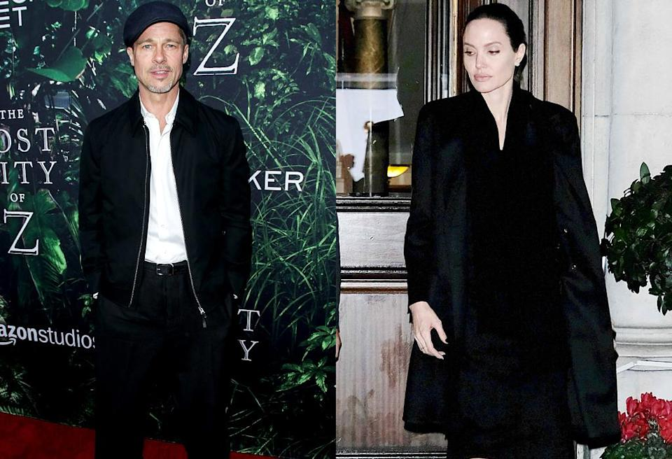 Brad Pitt and Angelina Jolie have been going their separate ways and getting different storylines. (Photo: Splash News)