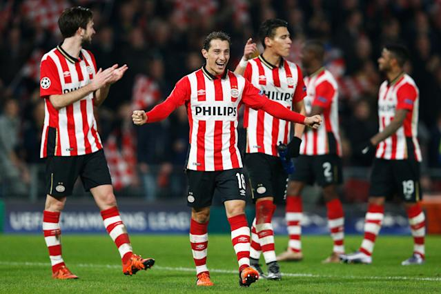 Andrés Guardado PSV Champions League