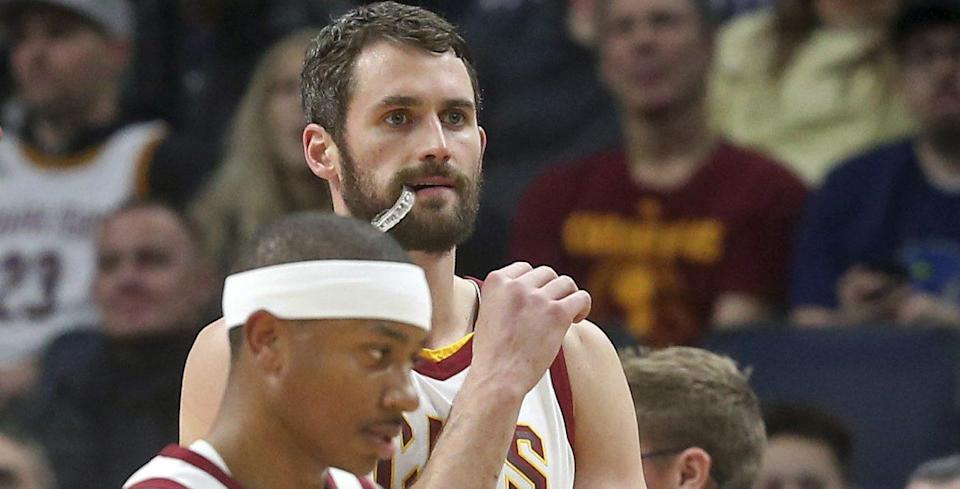 The already-scuffling Cavaliers will now have to make do without Kevin Love for a while.
