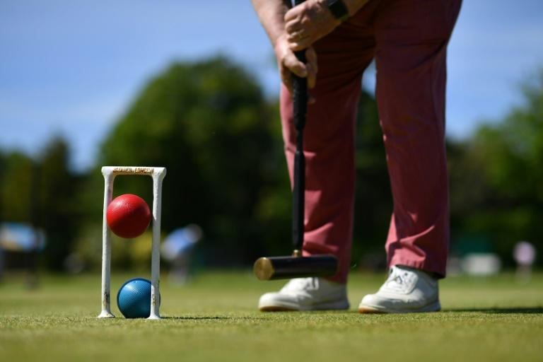 Croquet players in Britain have returned to action after the coronavirus lockdown (AFP Photo/Ben STANSALL)