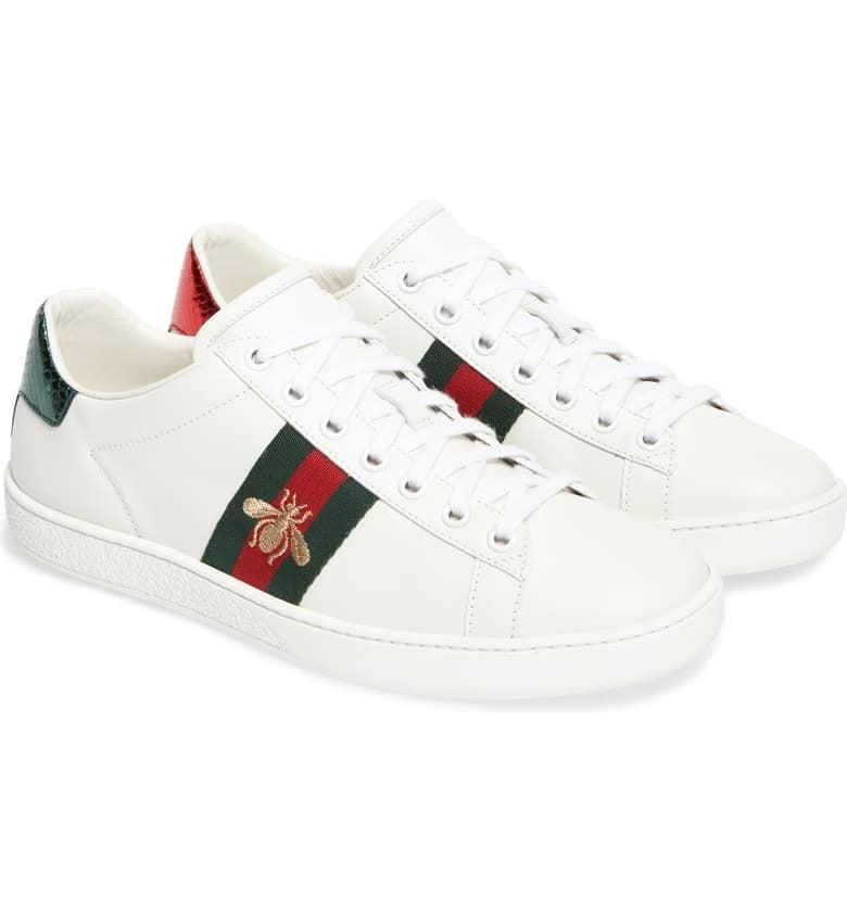 <p>We're dreaming of these classic <span>Gucci New Ace Sneakers</span> ($680). If you feel like splurging, go with these.</p>