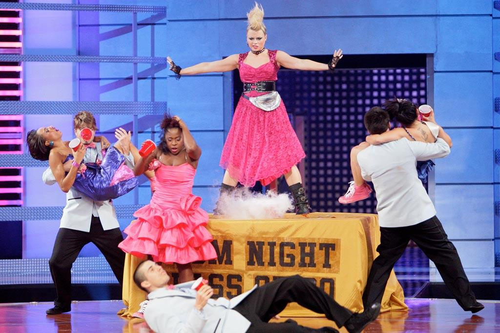 """YAHOO! TV: Who thought of the idea to do an '80s prom theme for the Speed Up challenge? ***  FANNY PAK: Matt's our main choreographer, but we've always had in the back of our minds that we wanted to do an '80s prom and we thought the idea would really fit the Speed Up challenge dancing to Mariah Carey's """"Touch My Body."""" We 'crack' dance all the time. It's the slowed down stuff that we're not use to, so that challenge was right up our alley. And the costumes we wore actually helped bring out our characters onstage. If you're in the right outfit, you just really bring it onstage."""