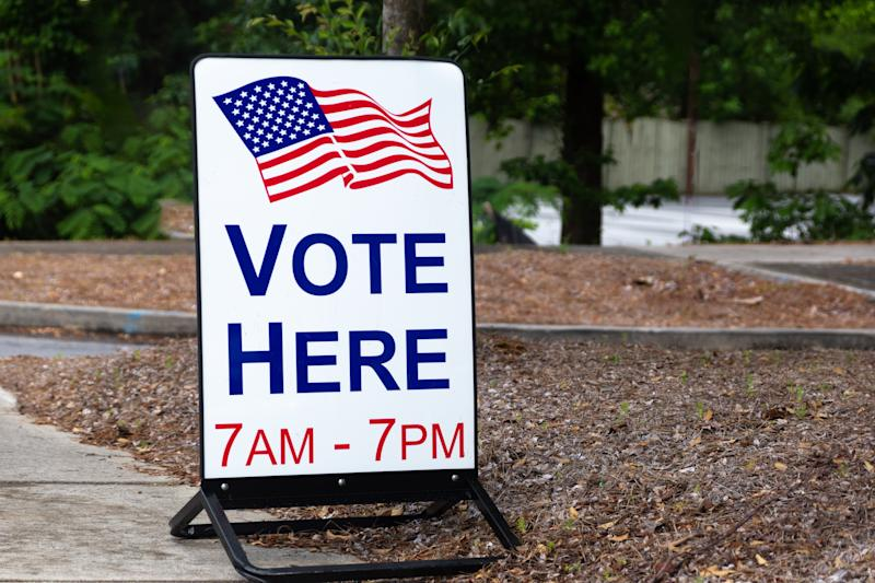 Polling location for US federal elections