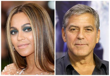 FILE PHOTOS: A combination photo shows singer, songwriter Beyonce in Manhattan and actor, producer Clooney in Toronto