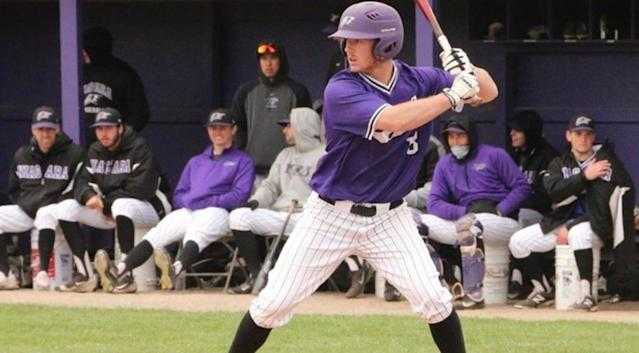 "Niagara's Greg Cullen said when he was six years old that he wanted to play for the Braves, and on Wednesday Atlanta selected him in the MLB draft. ( <a href=""http://purpleeagles.com/"" rel=""nofollow noopener"" target=""_blank"" data-ylk=""slk:Niagara Athletics"" class=""link rapid-noclick-resp"">Niagara Athletics</a>)"