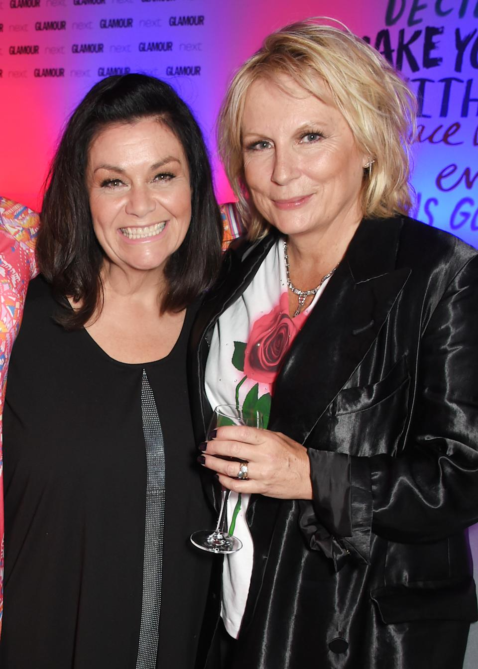 LONDON, ENGLAND - JUNE 06:  Dawn French (L) and Jennifer Saunders attend the Glamour Women of The Year Awards 2017 in Berkeley Square Gardens on June 6, 2017 in London, England.  (Photo by David M Benett/Dave Benett/Getty Images)