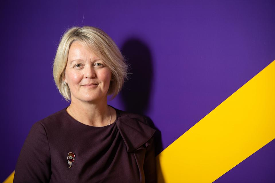 Newly installed RBS Chief Executive Officer Alison Rose during a visit to meet with entrepeneur customers at a NatWest business hub in Islington, London. PA Photo. Picture date: Friday November 1,2019. See PA story CITY RBS . Photo credit should read: Dominic Lipinski/PA Wire (Photo by Dominic Lipinski/PA Images via Getty Images)