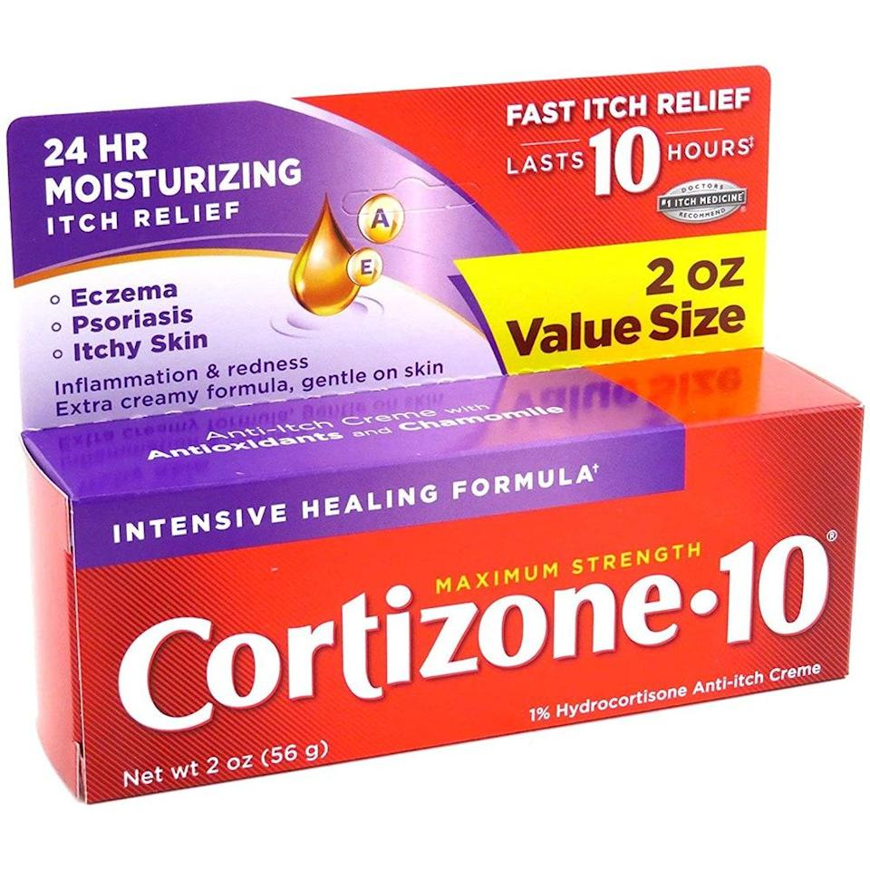 "<p>Gohara says nothing gets past Cortizone 10 Maximum Strength Anti-Itch Creme, a truly beloved staple that contains <a href=""https://www.allure.com/story/how-to-deal-with-red-irritated-skin?mbid=synd_yahoo_rss"" rel=""nofollow noopener"" target=""_blank"" data-ylk=""slk:one percent hydrocortisone"" class=""link rapid-noclick-resp"">one percent hydrocortisone</a> to reduce swelling and itching on a short-term basis. If it doesn't help, you might have to consult a dermatologist for a stronger prescription. </p> <p><a href=""https://www.instagram.com/drjessiecheung/?hl=en"" rel=""nofollow noopener"" target=""_blank"" data-ylk=""slk:Jessie Cheung"" class=""link rapid-noclick-resp"">Jessie Cheung</a>, a board-certified dermatologist and founder of Cheung Aesthetics and Wellness in Chicago, adds that aspirin and other over-the-counter anti-inflammatories, such as <a href=""https://www.amazon.com/Advil-Capsules-Individually-Ibuprofen-Temporary/dp/B0006SW71G"" rel=""nofollow noopener"" target=""_blank"" data-ylk=""slk:ibuprofen"" class=""link rapid-noclick-resp"">ibuprofen</a>, can also ease discomfort and redness by decreasing the inflammatory response.</p> <p><strong>$4</strong> (<a href=""https://www.riteaid.com/shop/cortizone-10-anti-itch-cream-maximum-strength-intensive-healing-formula-1-oz-28-g-0354524"" rel=""nofollow noopener"" target=""_blank"" data-ylk=""slk:Shop Now"" class=""link rapid-noclick-resp"">Shop Now</a>) </p>"