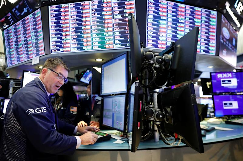 A trader works on the floor of the New York Stock Exchange shortly after the closing bell in New York, U.S., October 2, 2019. REUTERS/Lucas Jackson