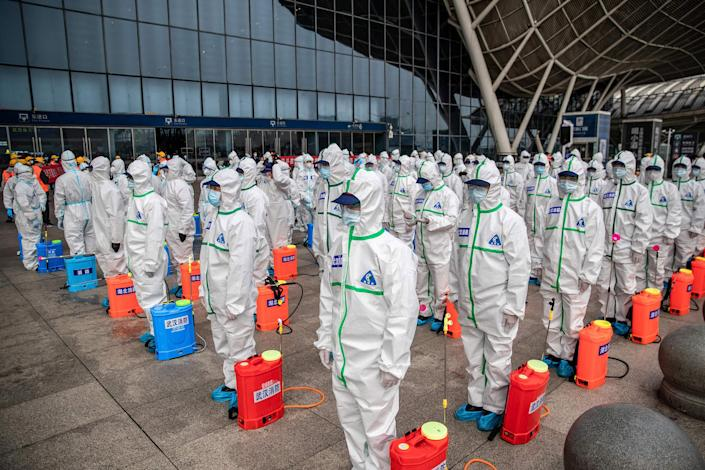 Image: Disinfection efforts in Wuhan  (AFP - Getty Images)