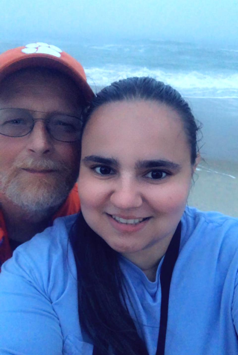Anda Melton, 29, with her 58-year-old boyfriend and her best friend's dad, Robert Pittman