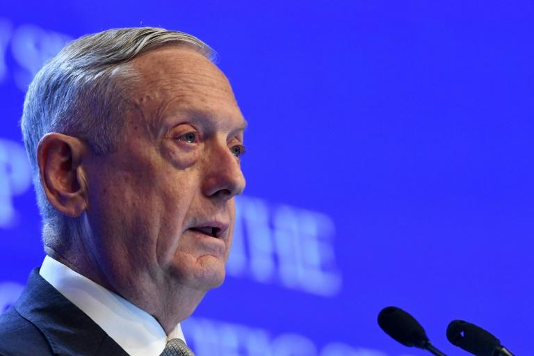 US Defense Secretary Jim Mattis described Beijing's military build-up in the South China Sea as 'intimidation and coercion'
