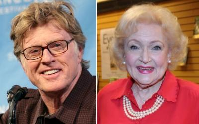 Robert Redford, Betty White -- Getty Images