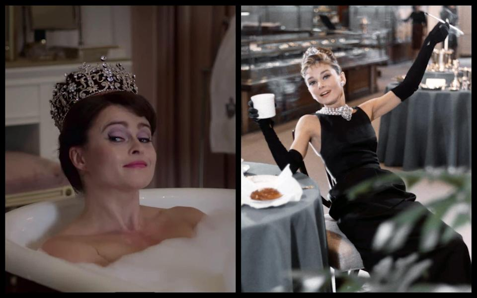 Helena Bonham Carter in The Crown and Breakfast at Tiffany's - Netflix