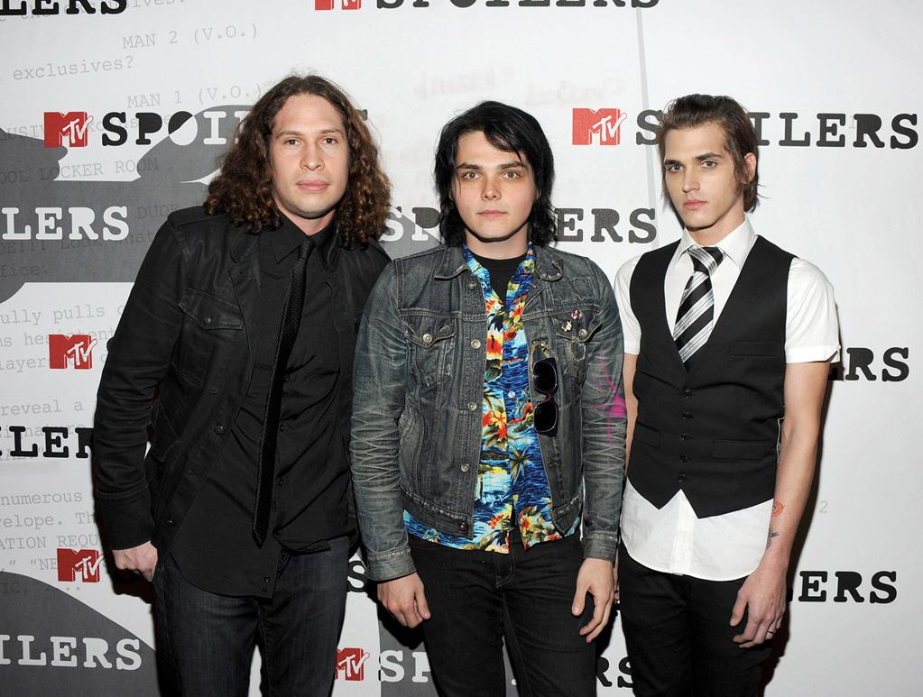 """<a href=""""http://movies.yahoo.com/movie/contributor/1809190225"""">My Chemical Romance</a> at the MTV screening party for <a href=""""http://movies.yahoo.com/movie/1808406490/info"""">Watchmen</a> in West Hollywood - 02/18/2009"""