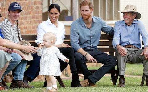 The royal couple visit a local farming famil, the Woodleys, in Dubbo - Credit:  Chris Jackson/ PA