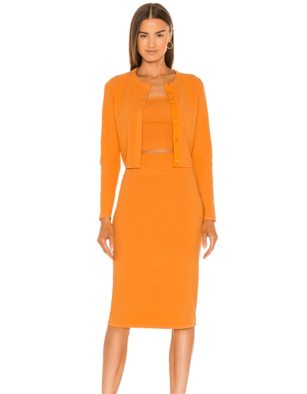 """<p>Victor Glemaud Core Pull On Skirt, $257 (from $395), <a href=""""https://rstyle.me/+NCiYEaXTOQ8rCw6JB9nqnA"""" rel=""""nofollow noopener"""" target=""""_blank"""" data-ylk=""""slk:available here"""" class=""""link rapid-noclick-resp"""">available here</a> (sizes XS-L).</p>"""