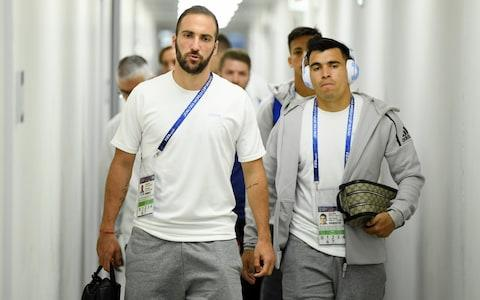 Gonzalo Higuain before the game - Credit: Getty images