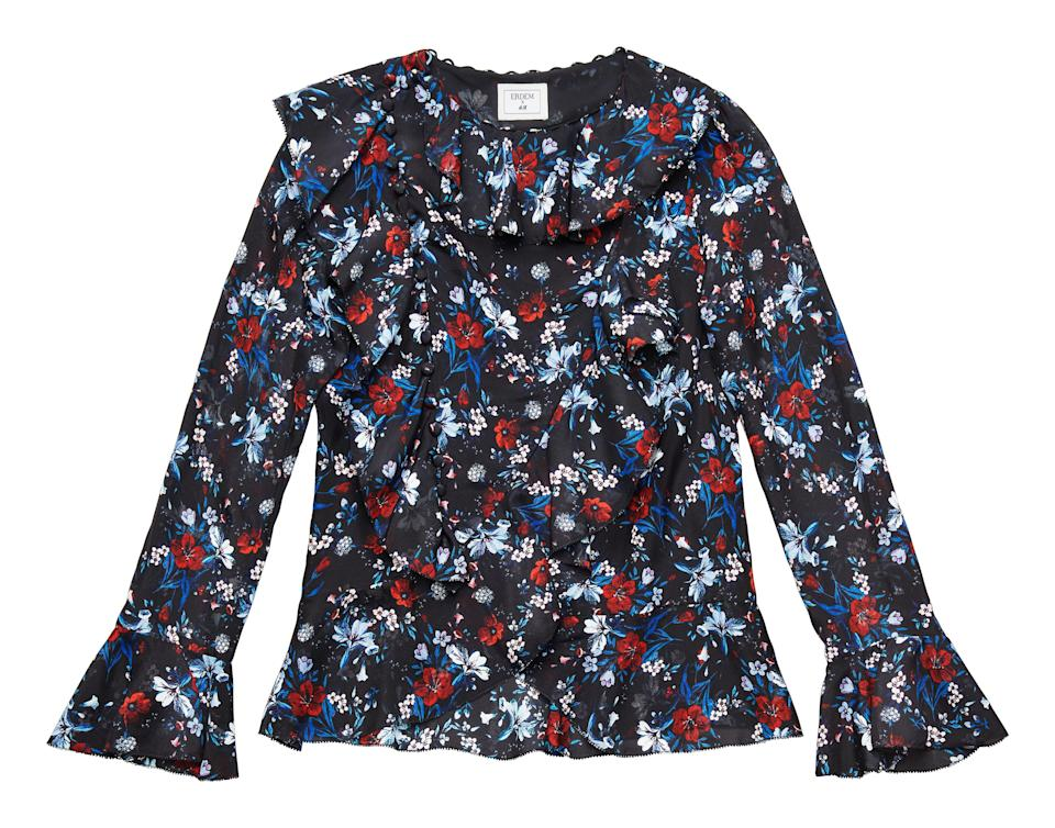 """<p>Look no further for a great workwear investment. We'll be wearing this ruffled shirt with peplum-hem trousers and backless loafers this autumn. <em><a rel=""""nofollow noopener"""" href=""""http://www2.hm.com/en_gb/index.html"""" target=""""_blank"""" data-ylk=""""slk:H&M"""" class=""""link rapid-noclick-resp"""">H&M</a>, £99</em> </p>"""