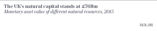The UK's natural capital stands at £761bn