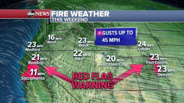 PHOTO: Fire weather this weekend (ABC News)