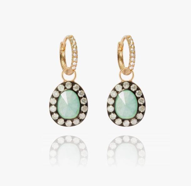 """<p><a class=""""link rapid-noclick-resp"""" href=""""https://go.redirectingat.com?id=127X1599956&url=https%3A%2F%2Fwww.annoushka.com%2Fuk%2Fdusty-diamonds-18ct-gold-jade-earrings-B029097.html&sref=https%3A%2F%2Fwww.townandcountrymag.com%2Fuk%2Fstyle%2Ffashion%2Fg36618413%2Fwhat-to-wear-to-royal-ascot%2F"""" rel=""""nofollow noopener"""" target=""""_blank"""" data-ylk=""""slk:SHOP NOW"""">SHOP NOW</a></p><p>Add a subtle hint of colour to an all-white ensemble with pale green jade framed by a ring of twinkling diamonds. </p><p>Gold, jade and diamond earrings, £3,400, Annoushka.</p>"""