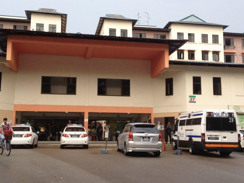 The Chinese bus drivers' dorm in Woodlands (Yahoo! photo)