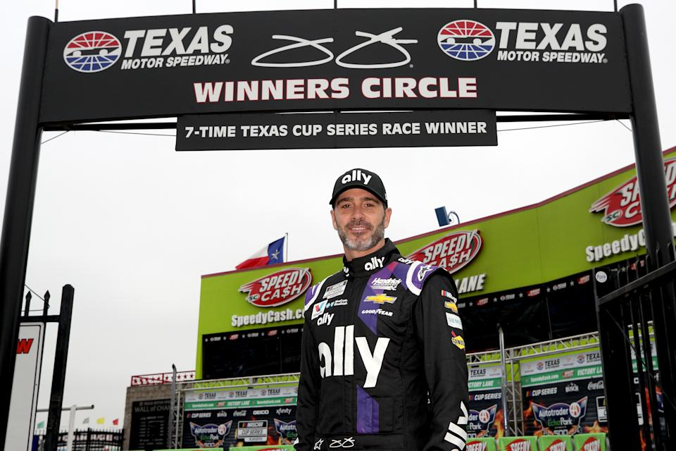 Jimmie Johnson always seemed to find his way into the winner's circle. (Photo by Chris Graythen/Getty Images)