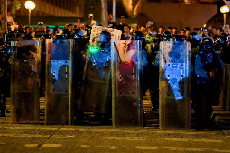 """The Hong Kong Police have flatly rejected """"allegations"""" of mainland reinforcements among their ranks (AFP Photo/Manan VATSYAYANA)"""