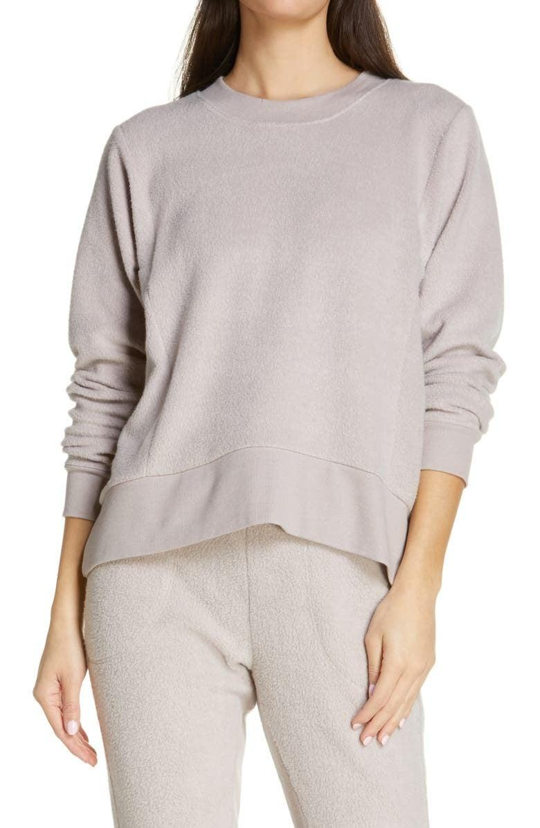 <p><span>Zella Harmony Fleece Crewneck Pullover</span> ($22, originally $59)</p>